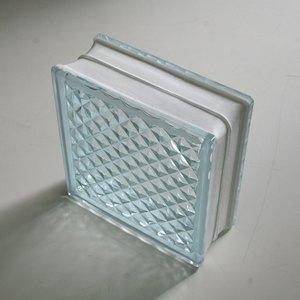 ガラスブロック 190×190×80mm クリアラティス 6個セット
