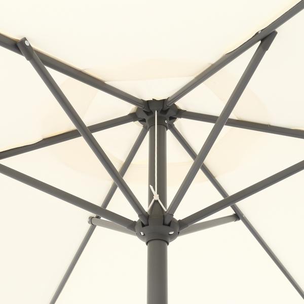 ガーデンパラソル アルミパラソル 240cm アイボリー 37851 (ベースは付属しません) ※北海道+1800円