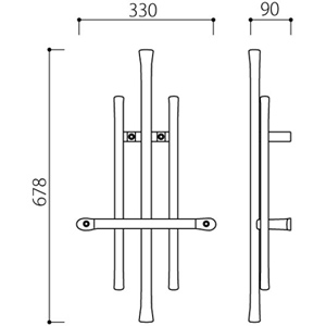 アルミ鋳物 妻飾り(オーナメント)・壁飾り (IT4707)