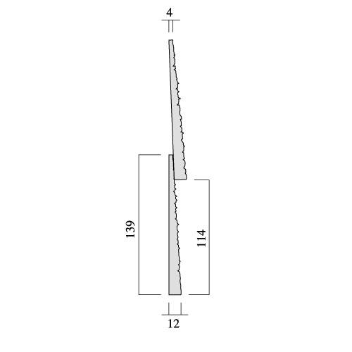レッドシダー 木製外壁材 サイディング 内装外壁 木材パネル・ベベルサイディング 約12×114mm×乱尺(910〜4880mm) (5.6kg)【クリア】【平米単位での販売】BE-12114
