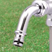 立水栓ユニット 伸縮式立水栓 D-EN3-131060CP 呼び長さ0.6m 水栓柱 ※送料別途見積