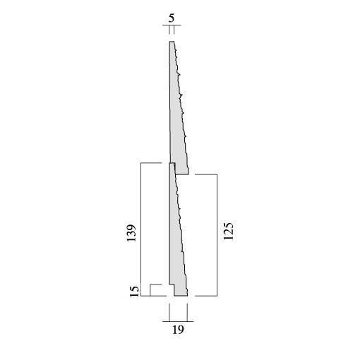 レッドシダー 木製外壁材 サイディング 内装外壁 木材パネル・ベベルサイディング 約19×125mm×乱尺(1820〜4880mm)(5.6kg)【節付】【シャクリ付】【平米単位での販売】BE-19125
