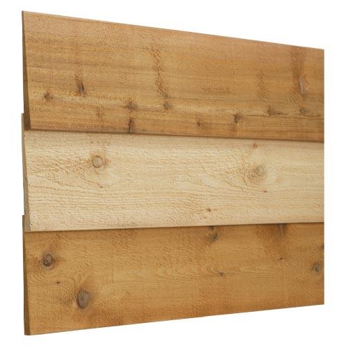 レッドシダー 木製外壁材 サイディング 内装外壁 木材パネル・ベベルサイディング 約19×165mm×乱尺(1820〜4880mm)(5.6kg)【節付】【平米単位での販売】BE-19165