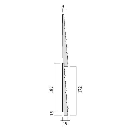 レッドシダー 木製外壁材 サイディング 内装外壁 木材パネル・ベベルサイディング 約19×172mm×乱尺(1820〜4880mm)(5.6kg)【節付】【シャクリ付】【平米単位での販売】BE-19172