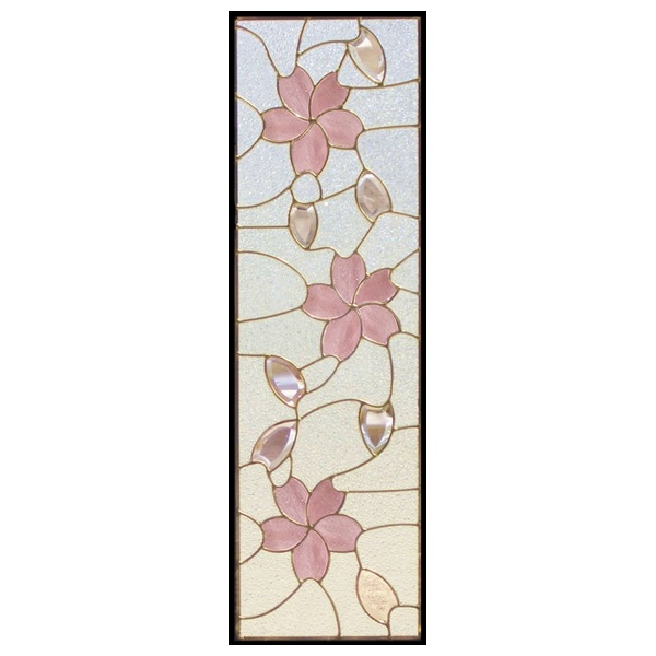ステンドグラス (SH-C16) 927×289×18mm デザイン 桜 ピュアグラス Cサイズ (約8kg) ※代引不可