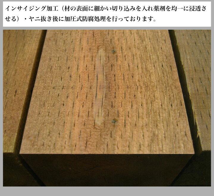 国産杉 新品枕木・ブラウン T70×W200×L2000mm (14.0kg) 【要-荷下し手伝い】