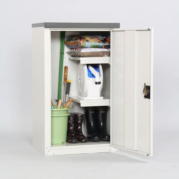 収納庫 扉式 幅60cm 高さ102cm TBJ-102HT 物置 家庭用 ハーフ棚 ※代引不可
