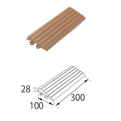 TOTO ベランダタイル バーセア スロープ材 [平] ナッツブラウン [20個セット] ジョイントタイル バルコニー 屋外用 AP004CJ