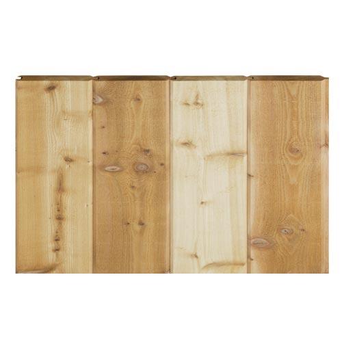 レッドシダー 木製外壁材 サイディング ・本実サイディング 約17×127mm×乱尺(1210〜4880mm)(6kg)【節付】【平米単位での販売】TG-17127N