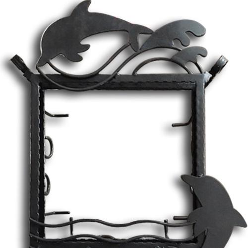 ステンドグラス専用アイアンフレーム 『ピュアデコプラス』 SH-D用 (PDP-J) ブラック イルカ 枠 ※代引不可