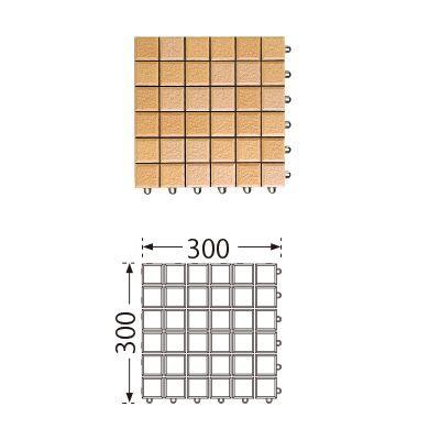 TOTO ベランダタイル バーセア MN01 サニーベージュ [単品] 300角 ジョイントタイル バルコニー 屋外用 AP01MN01UFJ