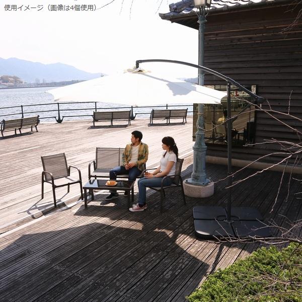 ガーデンパラソル オプション ウォーターベース (ハンギング用)2枚セット30L 36995 本体別売 ※北海道+800円