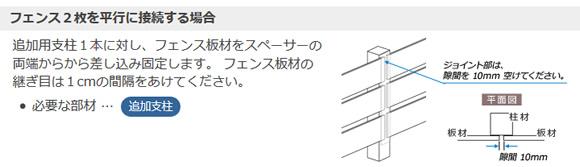 樹脂製 目隠しフェンス ロワール 【1135用 コーナー支柱】 幅80×奥行き80×高さ1485mm