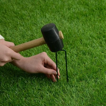 人工芝用 留め具 1本 コ型ピン [幅/約3cm 長さ/約14cm]