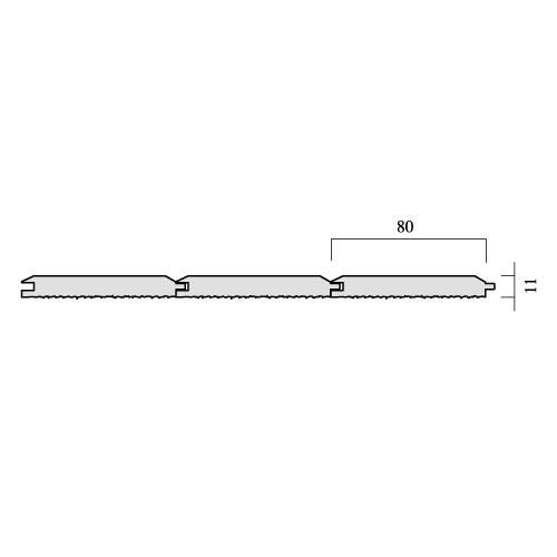 レッドシダー 内装用外壁 木材パネル・本実パネリング 約11×80mm×乱尺【クリア】(1210〜4880mm)(4kg)】【平米単位での販売】TG-1180