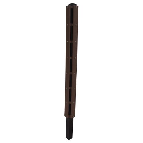 【在庫限り】樹脂製 目隠しフェンス ロワール 【1825用 コーナー支柱】 幅80×奥行き80×高さ2275mm