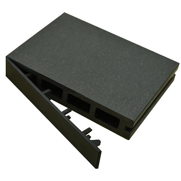 ※人工木 アドバンスデッキ用 エンドキャップ 単品 ダークグレーDarkGray ※樹脂デッキ部材