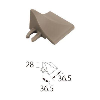 TOTO ベランダタイル バーセア 飛散防止部材 [コーナー] カームグレー [20個セット] ジョイントタイル バルコニー 屋外用 AP007D