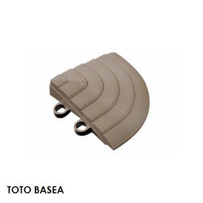TOTO ベランダタイル バーセア スロープ材 [コーナー] カームグレー [単品] ジョイントタイル バルコニー 屋外用 AP005DJ