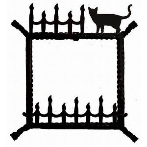 ステンドグラス専用アイアンフレーム 『ピュアデコプラス』 SH-D用 (PDP-F) ブラック 猫 枠 ※代引不可