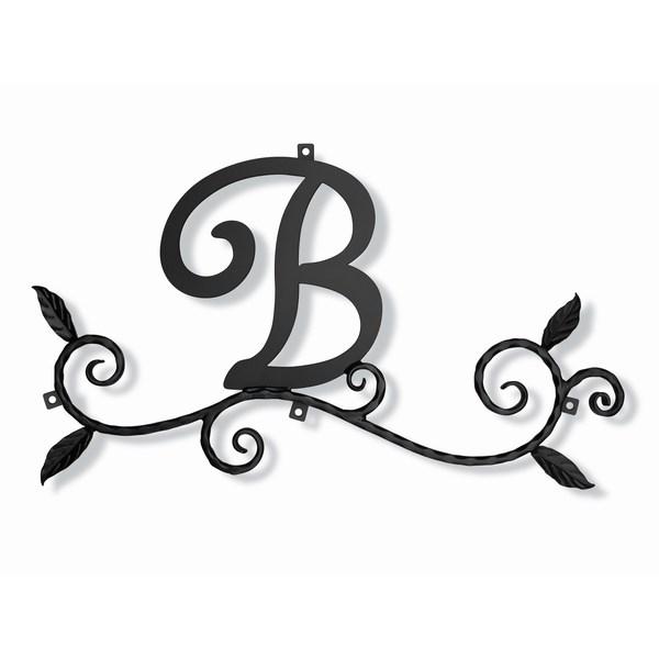 妻飾り 壁飾り [B] アルファベット (WA-K0B) ロートアイアン 日本製 ※北海道+1000円