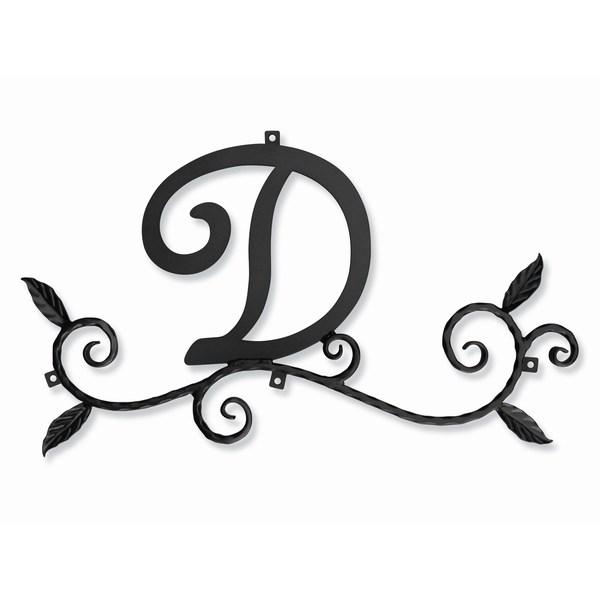 妻飾り 壁飾り [D] アルファベット (WA-K0D) ロートアイアン 日本製 ※北海道+1000円