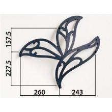 妻飾り 壁飾り アルミ鋳物 トライリーフタイプ ニチハ (FFA5388 ブラック) オーナメント 外壁
