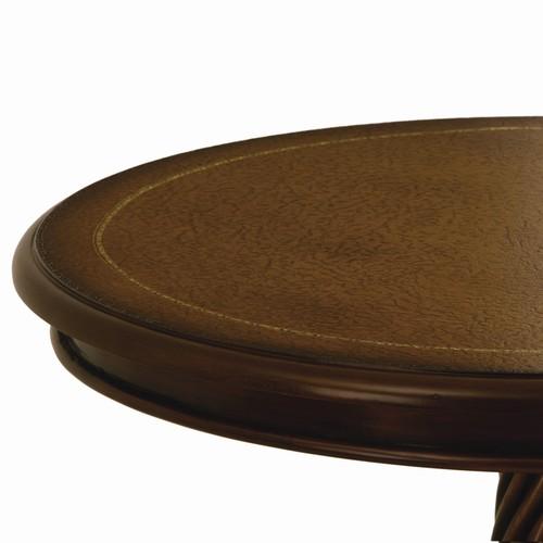 コーヒーテーブル 直径60cm コモ テーブル ブラウン (28571) クロシオ マホガニー ※北海道・沖縄・離島送料別途見積