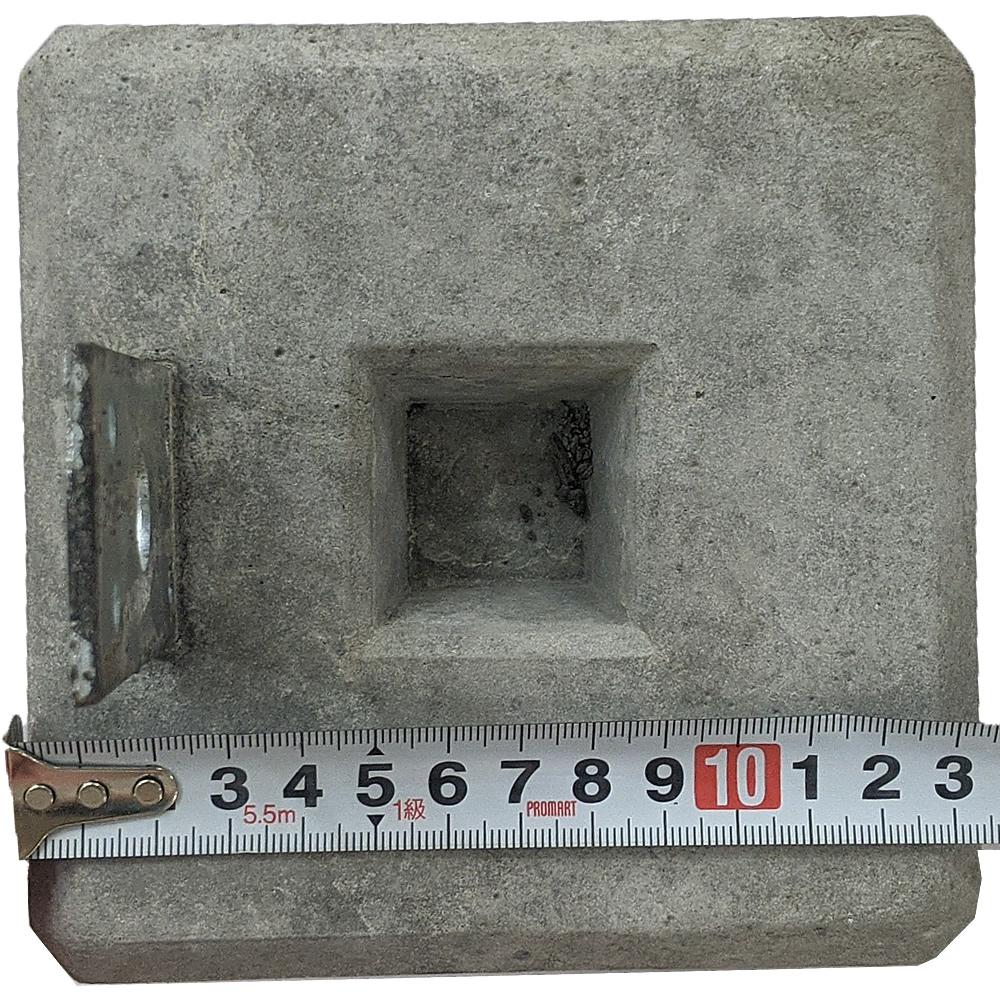 羽子板付束石 90角材向け/高さ240mm (15.0kg)  沓石