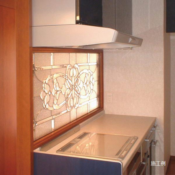 ステンドグラス (SH-B03) 1625×480×20mm デザイン アンティーク クリア ピュアグラス Bサイズ (約24kg) ※代引不可