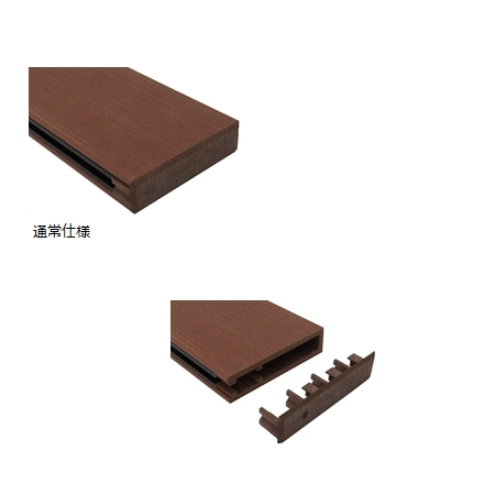 フェンス材 フェザールーバー エンドキャップ&加工代 25×100 ブラウン