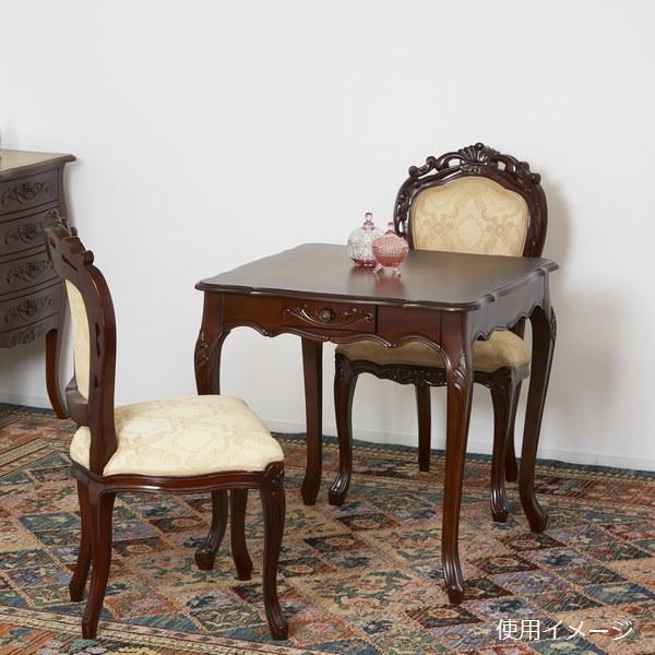 テーブル 木製 コモ ダイニングテーブル75 引出付 ブラウン (92346) クロシオ  ※北海道・沖縄・離島送料別途見積