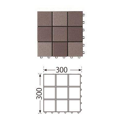 TOTO ベランダタイル バーセア MT03 セサミブラウン [単品] 300角 ジョイントタイル バルコニー 屋外用 AP10MT03UFJ