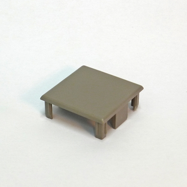 アルミ支柱50角用 50×50樹脂キャップ(片側)【取付無し】