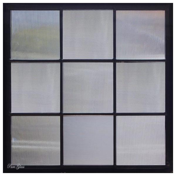 ステンドグラス (SH-E112) 300×300×18mm デザイン 幾何学 ピュアグラス (約3kg) メーカー在庫限り ※代引不可