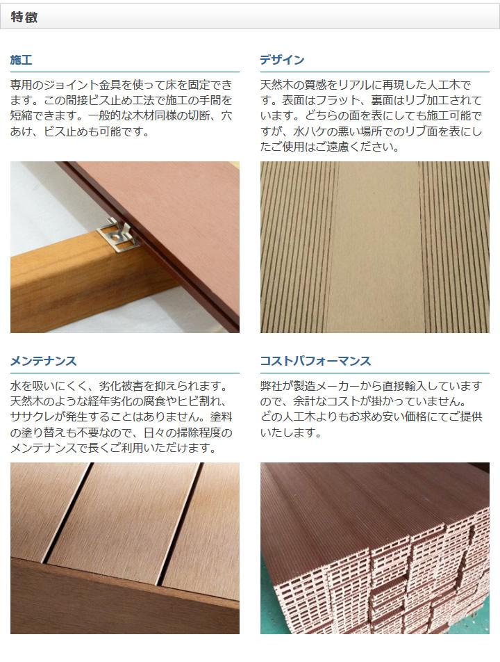 ※人工木 アドバンスデッキ用 ジョイント金具 50枚入/箱 (1.2kg) ※樹脂デッキ部材