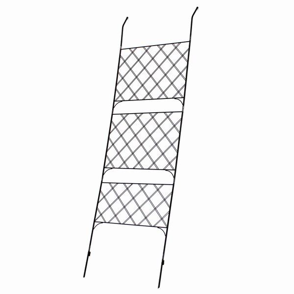 グリーンフェンス ブラック 幅80cm アイアン製グリーンカーテン アーガイル IF-GC011BLK ※北海道+1100円