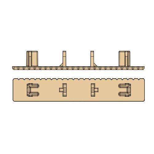 ルチアウッド エンドキャップ 25×20×145mm ホワイト