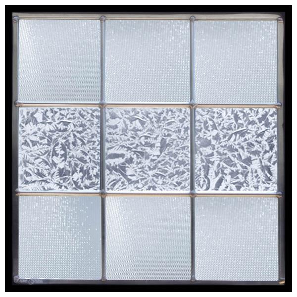 ステンドグラス (SH-E113) 300×300×18mm デザイン 幾何学 ピュアグラス (約3kg) メーカー在庫限り ※代引不可