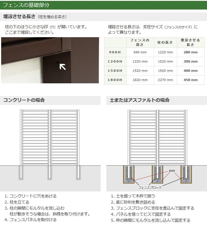 【在庫限り】目隠しフェンス アルミ柱 コーナー用 (セーヌ 高さ90cm用) ホワイト アルミフェンス 支柱