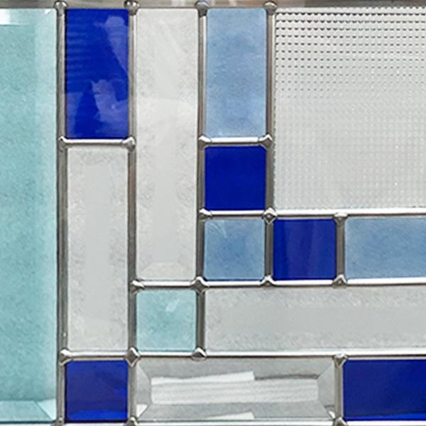 ステンドグラス (SH-E06) 300×300×18mm デザイン ピュアグラス Eサイズ (約3kg) メーカー在庫限り ※代引不可