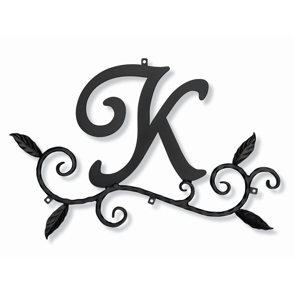 妻飾り 壁飾り [K] アルファベット (WA-K0K) ロートアイアン 日本製 ※北海道+1000円
