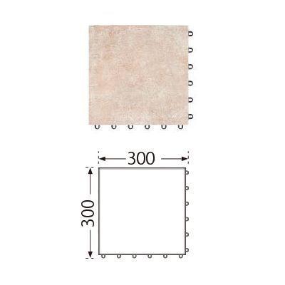 TOTO ベランダタイル バーセア MU01/300 ベイクベージュ [単品] 300角 ジョイントタイル バルコニー 屋外用 AP30MU01UFJ