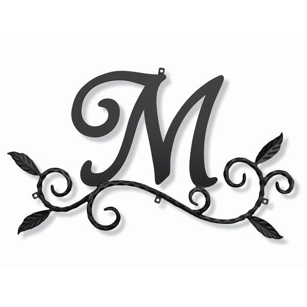 妻飾り 壁飾り [M] アルファベット (WA-K0M) ロートアイアン 日本製 ※北海道+1000円
