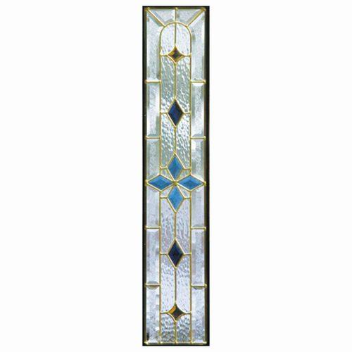 ステンドグラス (SH-G02) 一部鏡面ガラス 913×177×18mm デザイン ピュアグラス Gサイズ (約5kg) ※代引不可