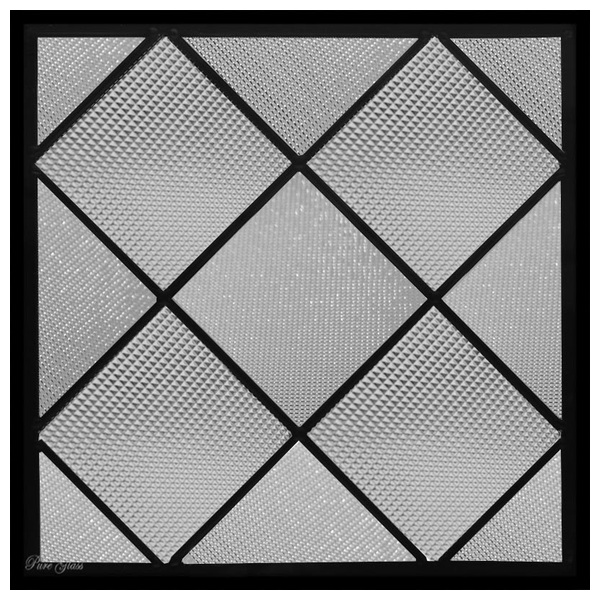 ステンドグラス (SH-E123) 300×300×18mm デザイン 幾何学 ピュアグラス (約3kg) メーカー在庫限り ※代引不可