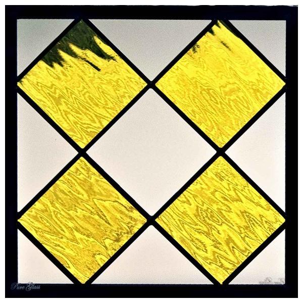 ステンドグラス (SH-E124) 300×300×18mm デザイン 幾何学 ピュアグラス (約3kg) メーカー在庫限り ※代引不可
