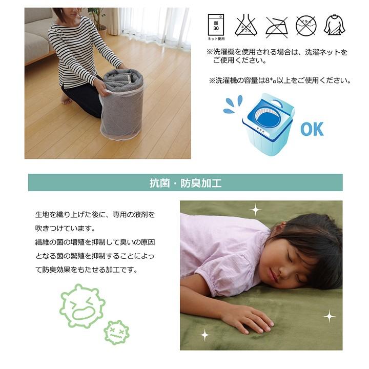 ラグ ピオニー 140×200cm楕円 円形 ホットカーペット 対応 無地 洗える 抗菌 防臭