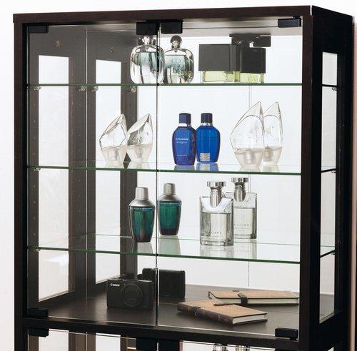 コレクションケース 幅60 ガラス クロシオ ダークブラウン (27051) フィギュア 収納 ※北海道・沖縄・離島送料別途見積
