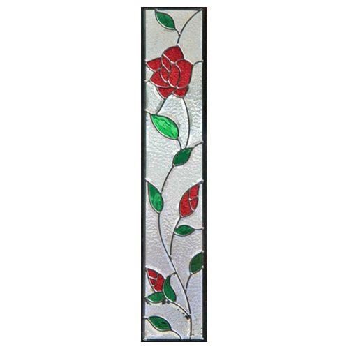 ステンドグラス (SH-G04) 913×177×18mm デザイン ローズ 薔薇 ピュアグラス Gサイズ (約5kg) ※代引不可